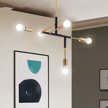 Suspension lumineuse salon restaurant, branche de fer nordique en fer, éclairage suspendu E27 pour le bar de la chambre|Lampes à suspension| |  -