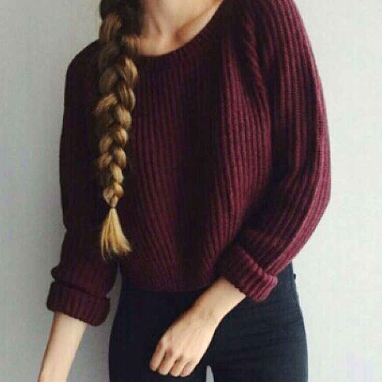2019 autumn winter hot sale basic women sweaters computer knitted solid three quarter pullovers o-neck female fashion sweaters Price $15.47