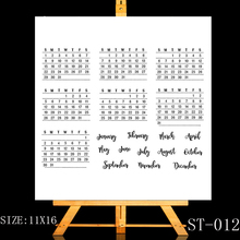 цена ZhuoAng Creative calendar stamp Transparent and Clear Stamp DIY Scrapbooking Album Card Making DIY Decoration Making онлайн в 2017 году