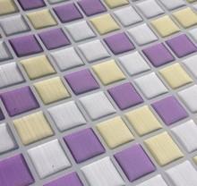 Free Shipping Hot Selling Wholesale Cheap  23x23cm vinyl  Mosaic Wall Tile Wallsticker free shipping sea blue glass mosaic tile outdoor wall floor tile swimming pool kitchen shower mosaic hot melt wallpaper lshm06