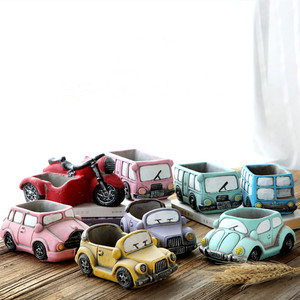 Image 2 - Silicone Concrete Mold Cartoon Car Shape Epoxy Resin Flower Pots Mould Handmade Craft Cement Planter Tool