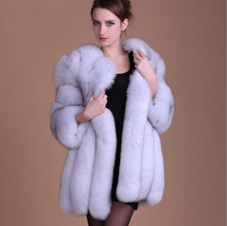 2016 Women Winter Faux Fur Coat Thicken Outerwear Colorful Jacket Luxury Ladies Fur Coat S-4XL