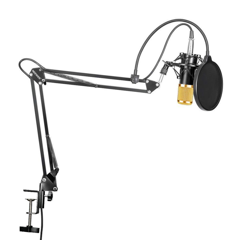 Prix pour Neewer NW-800 Studio de Radiodiffusion Enregistrement Microphone À Condensateur NW35 Réglable Suspension Ciseaux Bras Support De Montage Clamp Kit