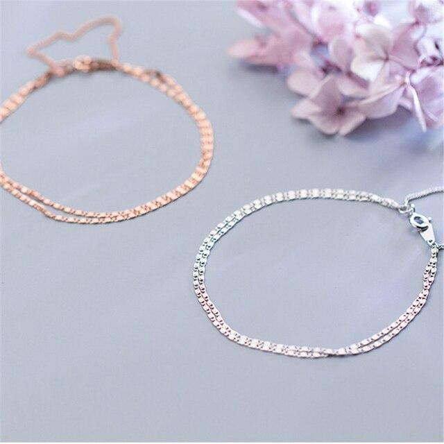 Фото многослойные браслеты 925 серебряные ювелирные изделия длинный цена