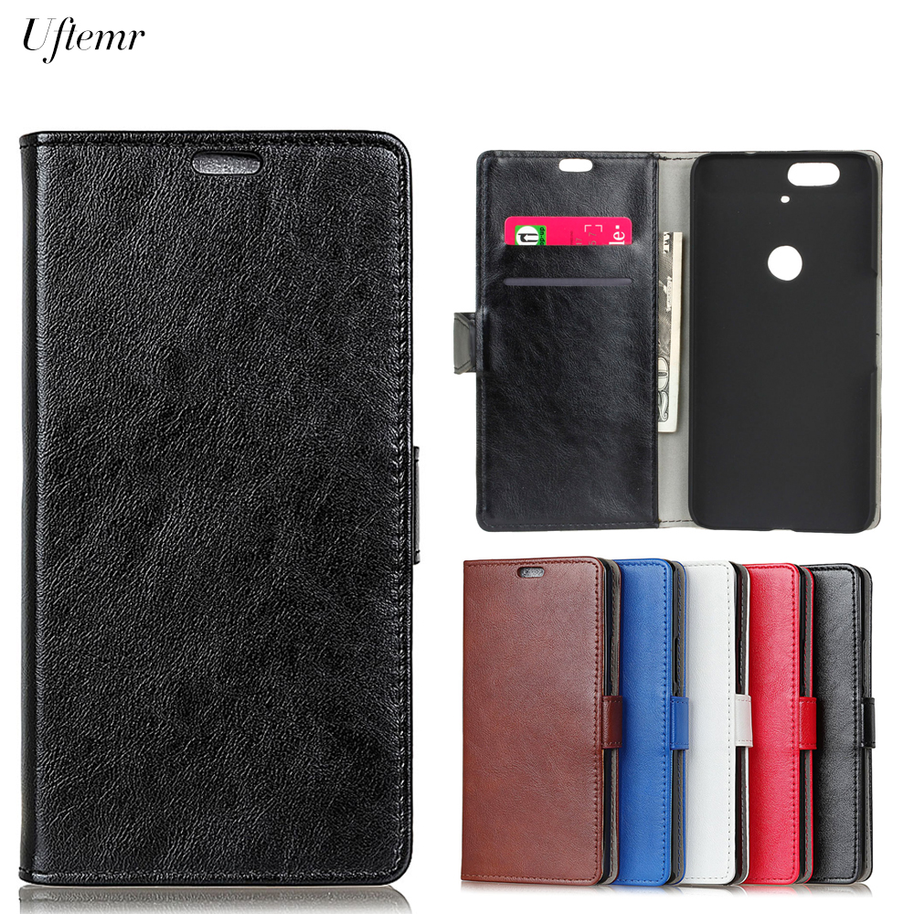 Uftemr Luxury Business Leather Case For Huawei Nexus 6P Crazy House Skin Flip Cover For Google Nexus 6P Phone Accessories