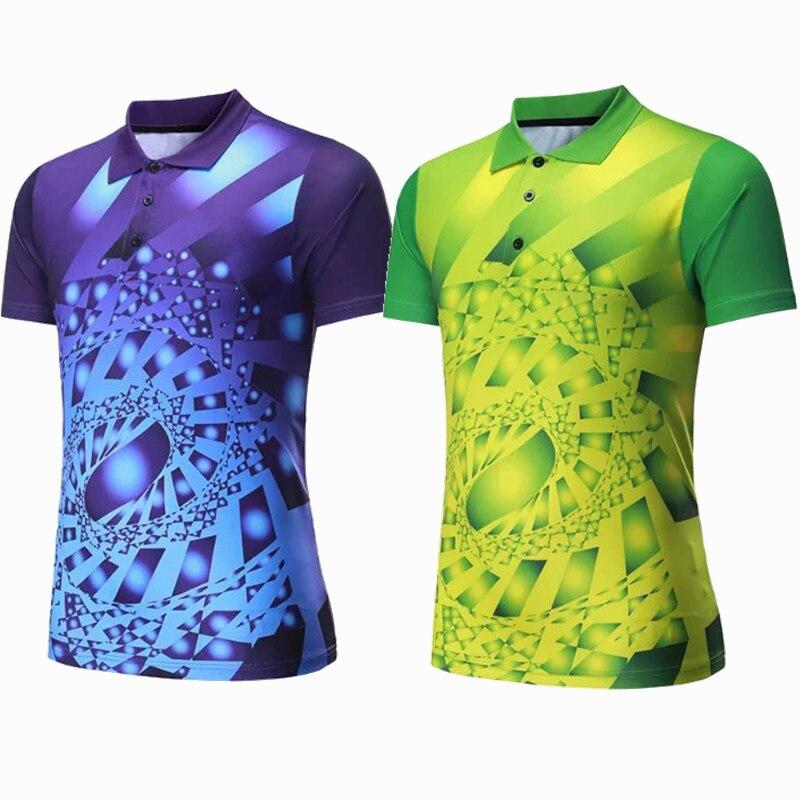 Männer Sportswear badminton shirts Trikots Volleyball Golf tischtennis t-shirt sport kleidung POLO T Shirts Quick Dry atmungsaktiv