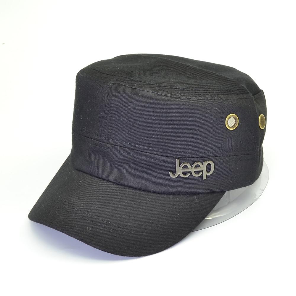 Fashion Flat Roof Military Hats Casual Sun Shade Bush Hat Baseball Field Cap For Men Women Army Caps