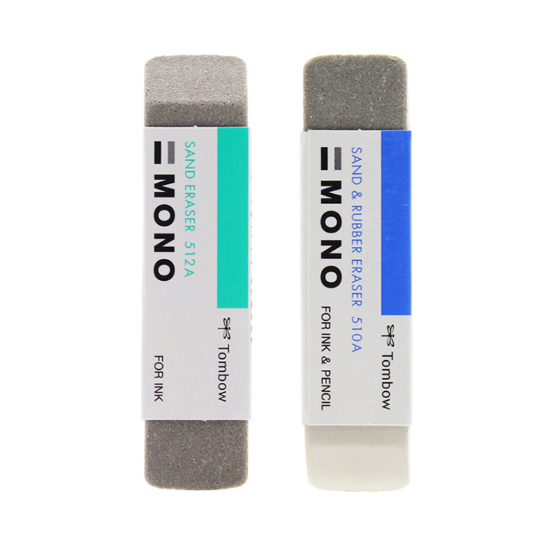 TOMBOW Mono Eraser ES-512A/ES-510A For Sand Eraser Scrub Rubber Double Head Ink Remover Highlight School Supplies Erasers