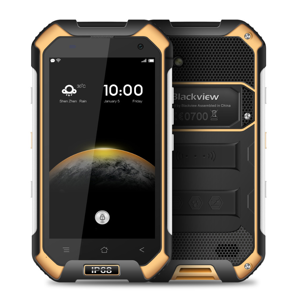 Original MTK6755 Octa Core Blackview BV6000 Android 6.0 3 GB RAM IP68 robuste étanche téléphone portable Smartphone 4G LTE 32 GB