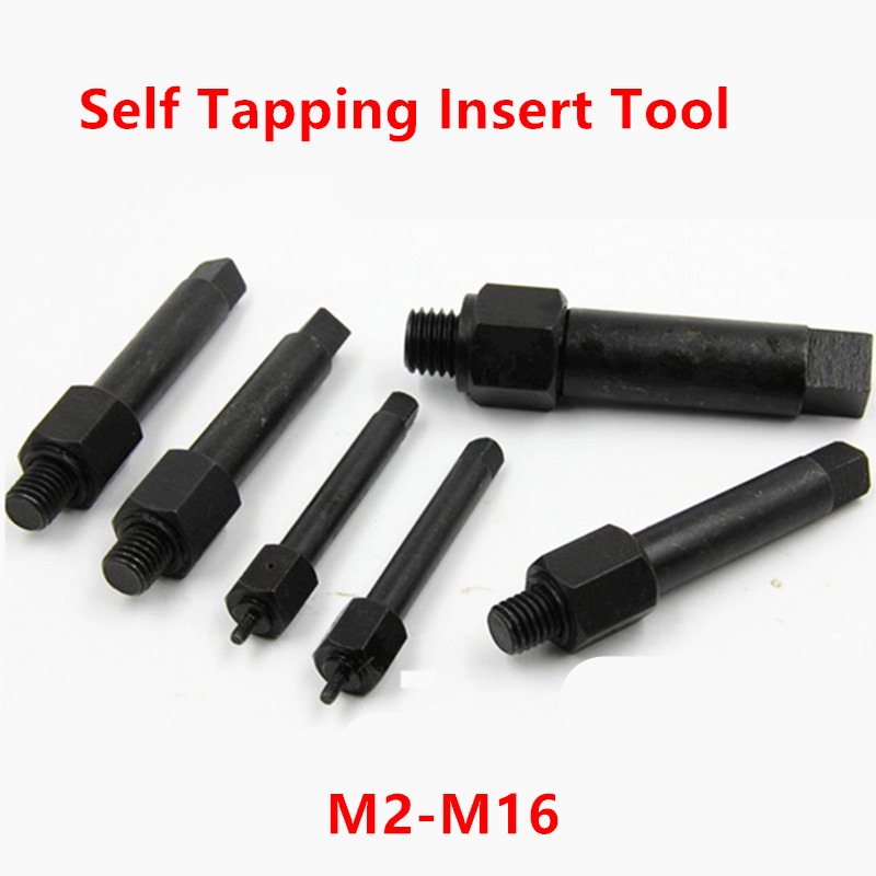 M2 M2.5 M3 M4 M5 M6 M8 <font><b>M10</b></font> M12 M14 M16 Thread repair Manual Self Tapping Insert Tool, <font><b>Screw</b></font> Bushing Tool, Install Tool image