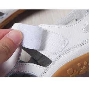 Image 3 - BEYARNEWomen gladyatör sandalet ayakkabı hakiki deri oyuk düz sandalet bayanlar rahat Softbottom yaz ShoesWomenBeachSandal