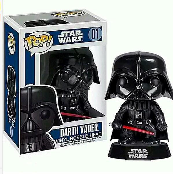 10CM 2017 New CARTOON Funko POP Star Wars Darth Vader Bobble Head Vinyl Kids model PVC