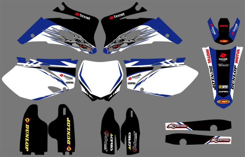 Graphics BackgroundS DECALS STICKERS Kits For Yamaha YZ250F YZ450F 2006 2007 2008 2009 YZ 250F 450F