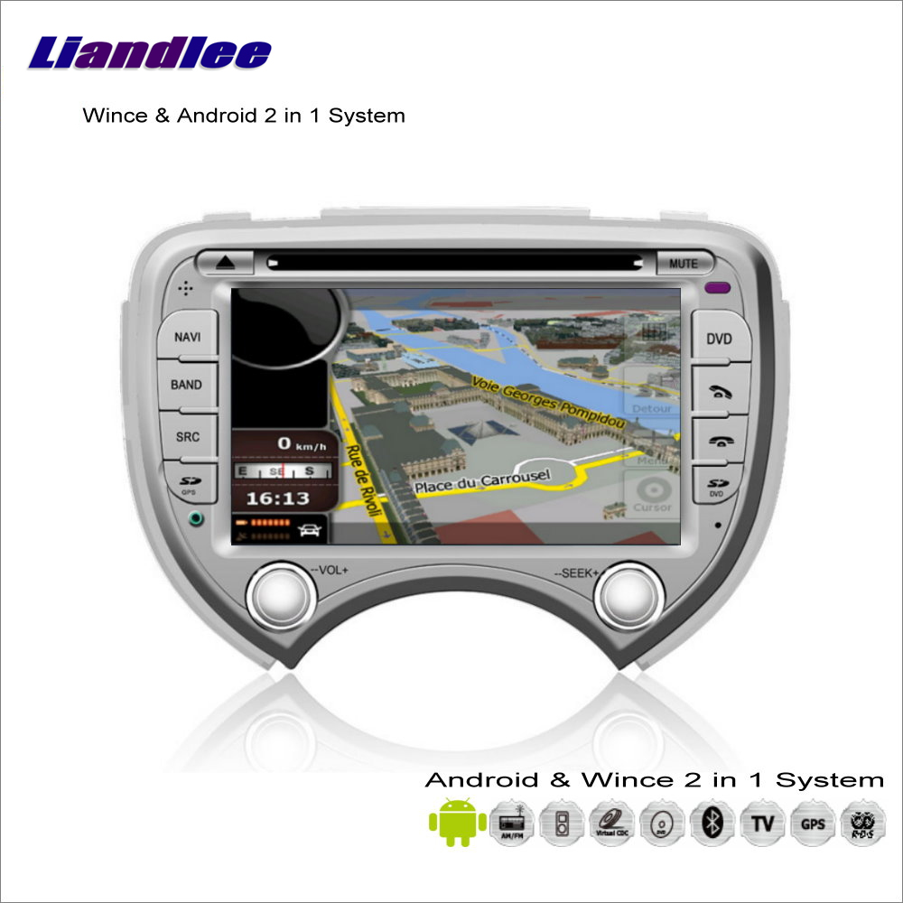 Liandlee Android Multimedia Stereo For Nissan March / Micra K13 / For Renault Pulse Radio DVD Player GPS Navigation Audio Video