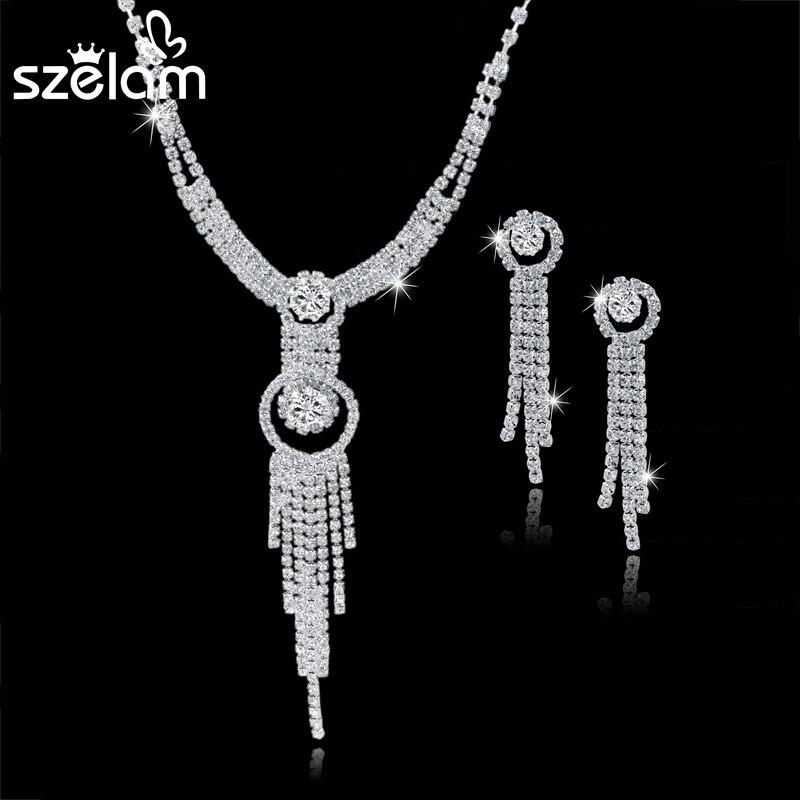 bb3377ca5fac Boda plata 925 joyería traje joyería establece mujeres azul Zirconia pulsera  anillo aretes collar de caja