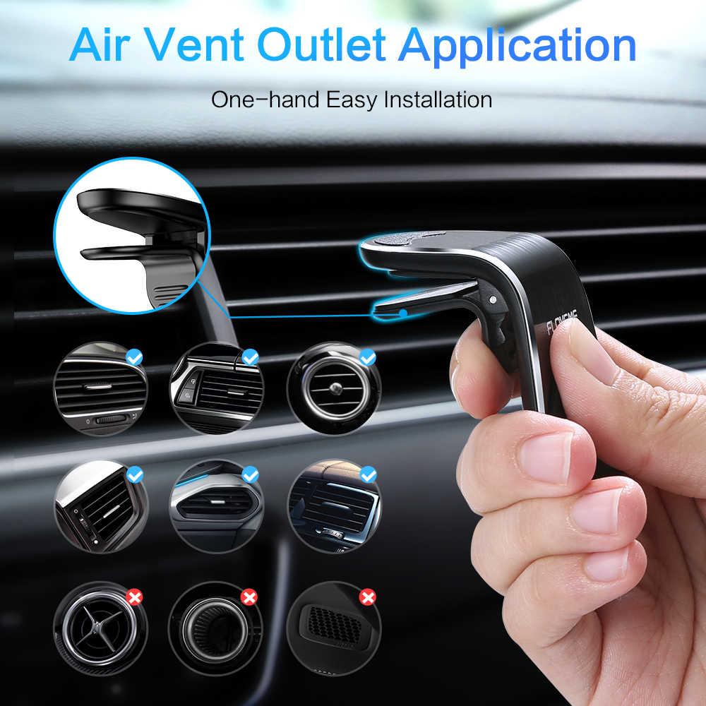 FLOVEME מתכת מגנטי רכב מחזיק טלפון מיני אוויר Vent קליפ הר מגנט נייד טלפון מחזיק עבור טלפון במכונית Suporte celular