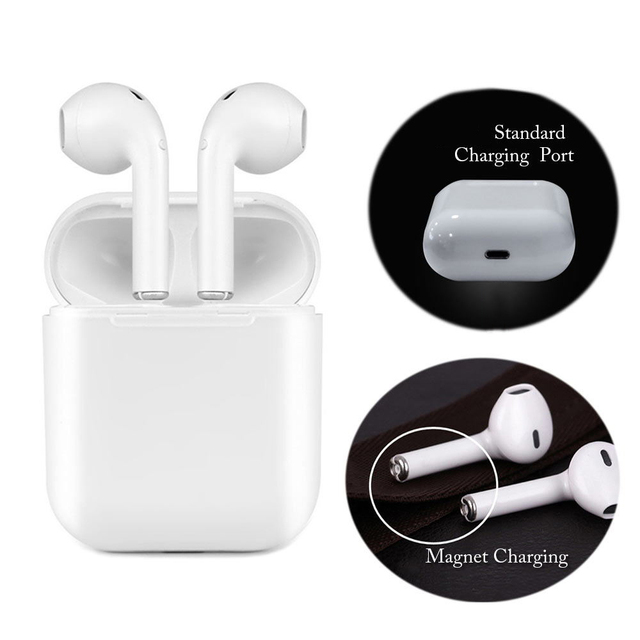 Magnetic Charger Box Earbuds IFANS I9 TWS Bluetooth Earphone Wireless Headset Upgrade Headphone Stereo Headphones For Android