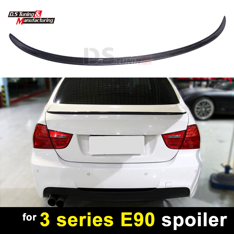 3 series E90 M3 style carbon fiber rear spoiler for BMW 3 series 4-door sedan 2005 - 2011 trunk lid boot wing 3 series e92 carbon fiber performance p style spoiler fits for bmw 3 series e92 2007 in 2 door coupes