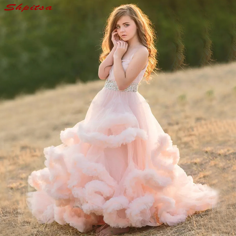 Pink   Flower     Girl     Dresses   for Weddings Party Wedding 2018 First Communion   Dresses   Flowergirl   Girls   Pageant   Dress   for Little   Girls