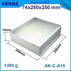 4 pz/lotto custodia di alluminio di vendita superiore in colore grigio scuro 73.5*250*250mm custodia in alluminio fai da te progettazione edilizia