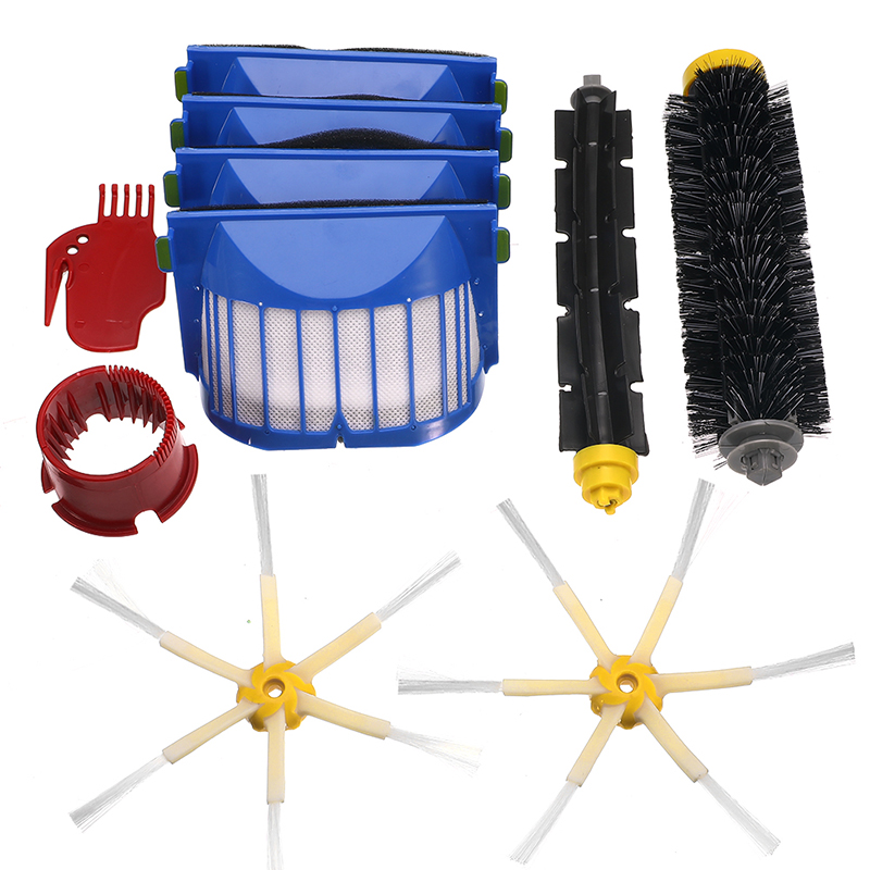 Cleaning Tools 6-15Pcs/Set Filter Brush Kit for IRobot Roomba 600 Series 605 615 616 620 621 631 651 Beater Brush Filters Kit image