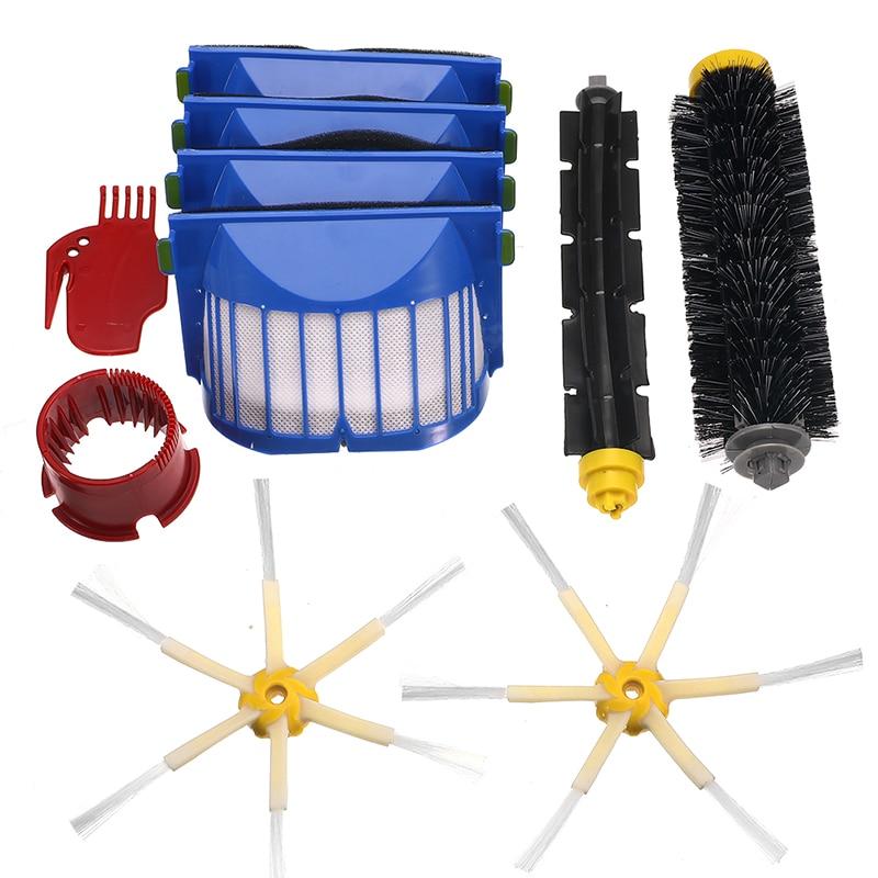 Strumenti di pulizia 6-15 pz/set Spazzola Filtro Kit per IRobot Roomba Serie 600 605 615 616 620 621 631 651 Beater Brush Filtri Kit