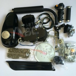 Motorized Motor Bicycle 80cc Engine Kit 2 Stroke Black Cruiser Chopper Bike Engine