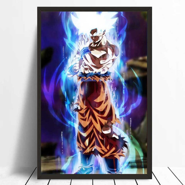 Dragon Ball Super Ultra Instinct Goku Japan Anime Comic Poster Art Silk Light Canvas Modern Home Room Wall Print