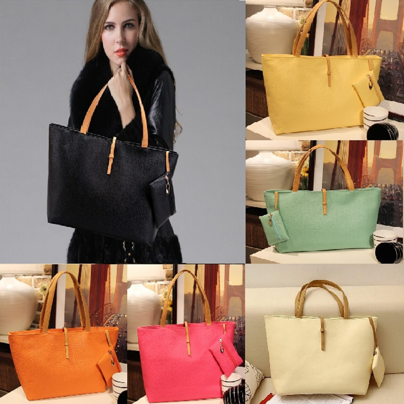 ac5f8bbe1f 2015 New Women PU Leather Tote Shoulder Bags Hobo Handbags Satchel Top  Quality Messenger bag Purse Free Shipping