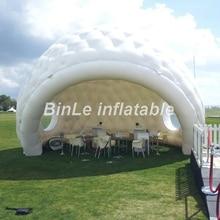 Specielt design oppustelig iglo maquee dome telt oppustelig golfball modtagelse oppustelig yurt telt til begivenhed