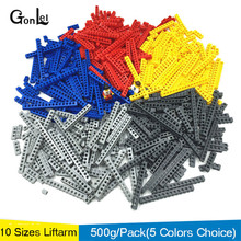 500g/lot Bricks Technic 10 sizes 5 colors mixed Building Blocks parts DIY Toys Compatible  Technic Toys Free Shipping стоимость