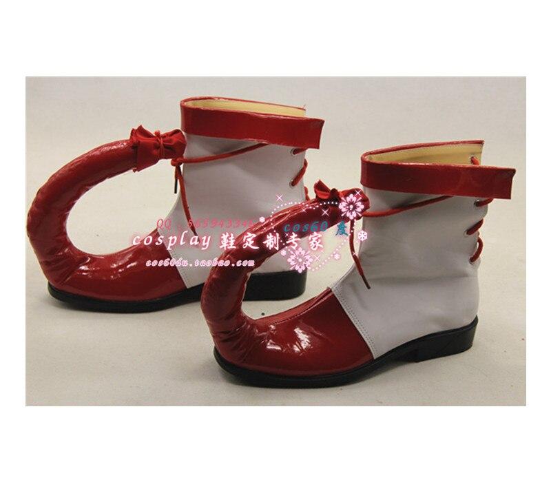 Клоун Косплэй белый и красный туфли для демонстраций S008