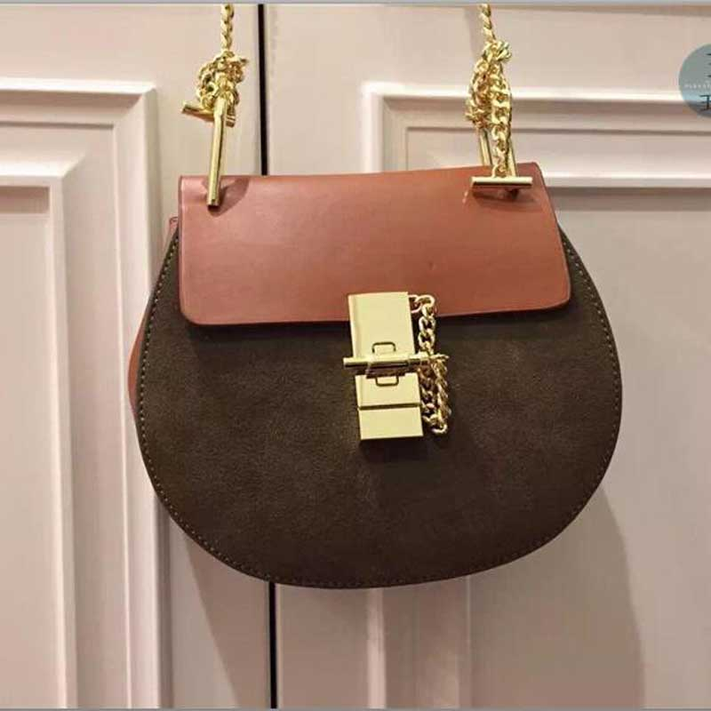 2016 SPRING NEW genuine font b leather b font fashion chain saddle bag women font b