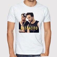 Camiseta blanca de los hombres del cantante Pop latino del Despacito de  Luís Fonsi camisetas impresas de la talla S a 3XL camise. 59f22f3a5c116