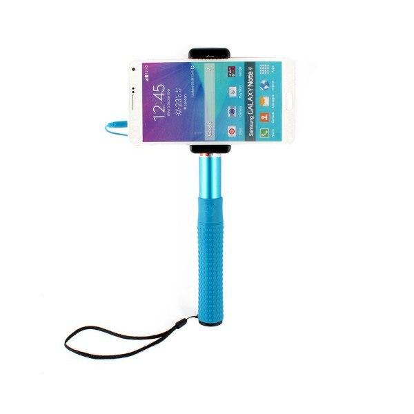 Blue Selfie Monopod Extendable Stick Pole <font><b>Tripod</b></font> <font><b>Remote</b></font> For iPhone 6 6 PLUS Samsung Mobile <font><b>Phone</b></font>
