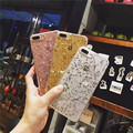 Shiny Sequin Glitter Powder Skin Transparent Soft TPU Gel Phone Case for iPhone 7 7 plus Bling Lovely Paillette Back Cover