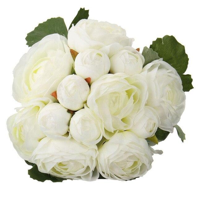 13 head artificial silk cloth camellia flower wedding bridal bouquet 13 head artificial silk cloth camellia flower wedding bridal bouquet party floral decorwhite mightylinksfo