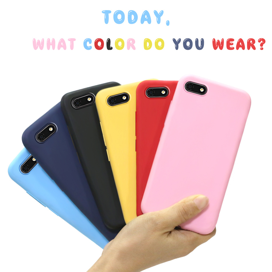 Silicone Case For Huawei Y5 2018 Lite DRA-LX5 Candy Color Soft TPU Phone Cover Y 5 Prime