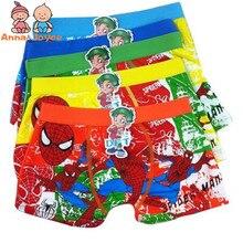 6 Pcs/lot Boys Boxer Children's Cotton Underwear Spiderman Boys Underwear Cartoo