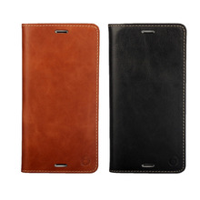 Real Genuine Leather Case For Sony Xperia Z3 Book Style Flip Stand Phone Back Cover with
