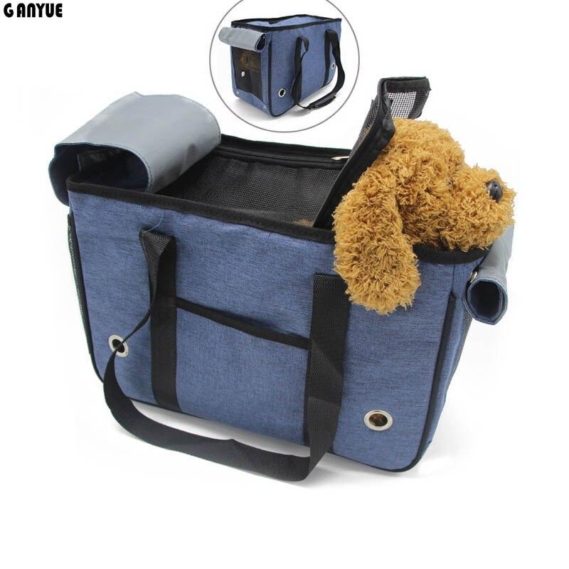 Ganyue Canvas Portable Cat Carrier Bag Handbag Kitten Small Dog Single Shoulder Bag Outdoor Travel Bags