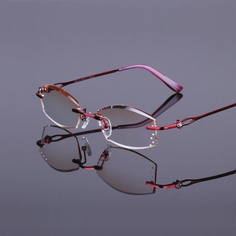 Width 138 New trend lady super light titanium frame women reading prescription finished glasses female Trimming glasses lentes in Women 39 s Prescription Glasses from Apparel Accessories