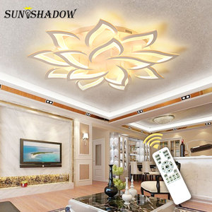 Image 2 - Candelabro LED moderno para sala de estar, lámparas de cocina, AC110V, 220V, accesorios de iluminación, cuerpo blanco