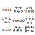 5pcs DIY Special Shaped Full Drill Diamond Painting Keychain Kits Butterfly/Love Heart Diamond Painting Cross Stitch Key Ring
