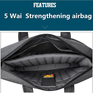 Image 2 - Bolsa para laptop 17.3 17 15 14 13 polegadas, à prova de choque, airbag, impermeável, masculina e feminina, luxo, grossa, para notebook novo 2018