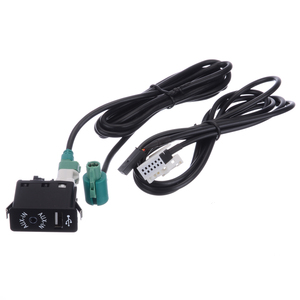 Image 5 - 1 sztuk samochodów kabel Audio AUX w gniazdo USB przełącznik wiązki przewodów drutu dla BMW E60 E61 E63 E64 E87 e90 E70 F25