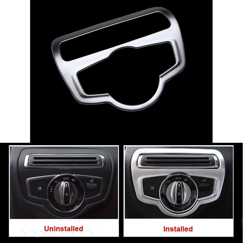 Autocollant mat de garniture du bouton de commutation | ABS de voiture, autocollant de protection pour accessoires de mercedes-benz C GLC 300 2015-2017