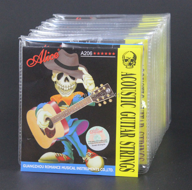c41500bb697 20 Sets Alice A206P-SL (.011-.052) Colorful Ball-end Steel Phosphor Bronze  Anti-Rust Acoustic Guitar Strings