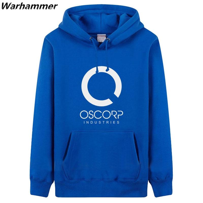 US $65 0 |2017 New Spiderman OSCORP Industries Hoodies Men Print Women  Oversized Pullover Winter Fleece Cotton Hooded Black EU Sweatshirts-in  Hoodies