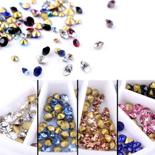 2mm & 3mm Colorful Cone DIY Wheel 3D Tips Stud Drill Shine Rhinestone Crystal Glitter Acrylic Metal Nail Art Decoration Manicure